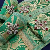 Хрести для архієрейського облачення зеленого