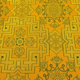 Парча для облачения желтая «Неопалимая Купина»