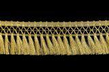 Бахрома «Кисточка на тесьме» ширина 8 см в золоте