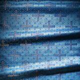 Парча «Византийский крест» голубая