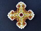 Кресты для иерейского облачения желтого