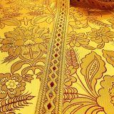 Парча церковная для облачений желтая «Греческий колос»