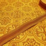 Парча для пошива богослужебных облачений желтая «Ника»