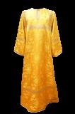 Стихарь пономарский без подкладки желтый шелк