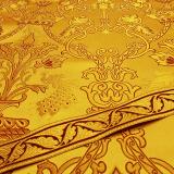 Ткань для церковных облачений желтая «Райский сад»