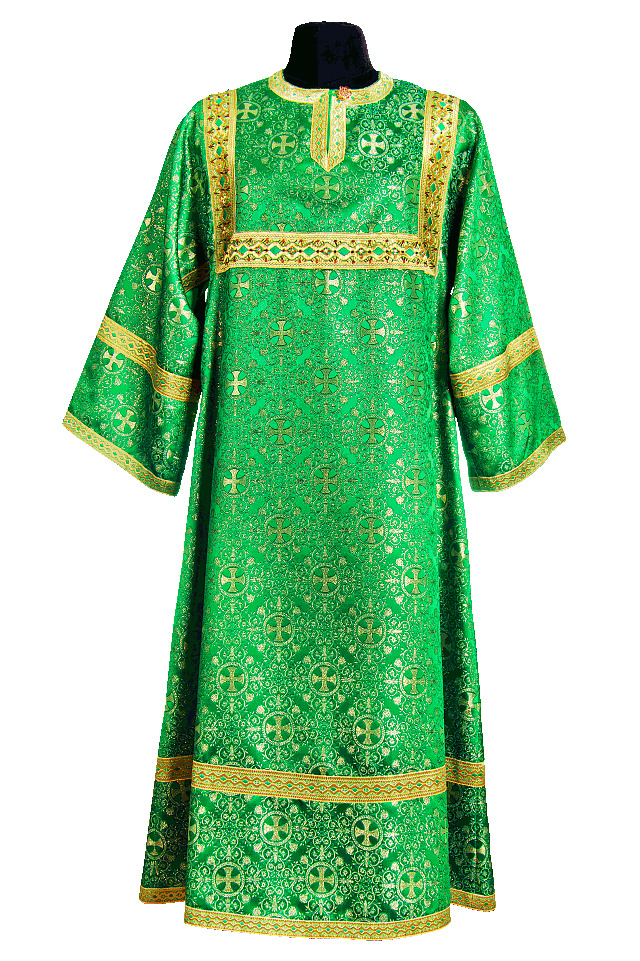 Sexton's Surplice green (Brocade Greek)