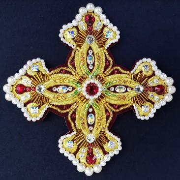 Crosses for priest vestment yellow
