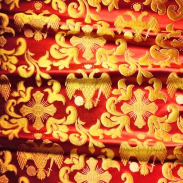 Парча «Византийский орел» красная