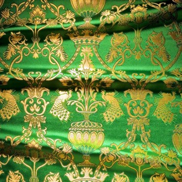 ☦️BROCADE (GARDEN OF EDEN) FOR VESTMENT GREEN •  buy | for sale