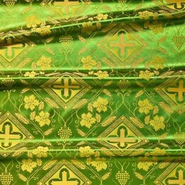 Шелк церковный «Виноградная лоза» зеленый
