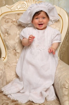 Christening gown (Pink tenderness)