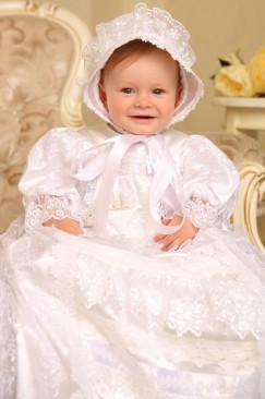 Baptism, christening set for girl (Pearl)