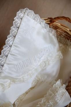 ☦️Крыжма «Спаси и сохрани» из церковной ткани | КУПИТЬ >> Украина | Киев • Одежда для крещения