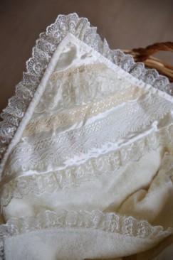 Baptism, christening blanket (Pearl)