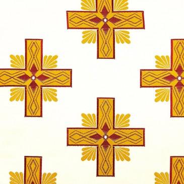 Ткань церковная с бордовым «Афон»