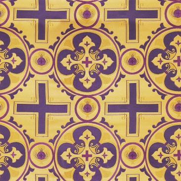 Ткань церковная фиолетовая «Назарет»