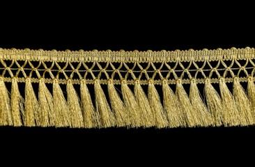 Fringe (Tassel on lace) width 8 cm golden