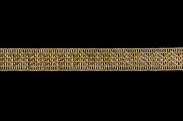 Тесьма плоская люрекс ширина 2,5 см в золоте