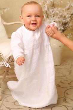 ☦️Рубашка льняная с вышивкой «Ангел мой» | КУПИТЬ >> Украина | Киев • Одежда для крещения