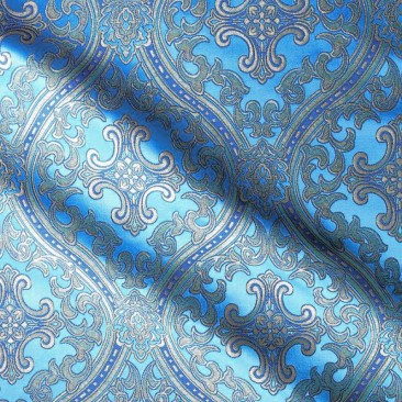 Brocade (Lavra) for vestment skyblue