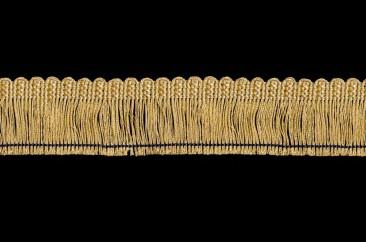 Twisted thread fringe width 5.5 cm golden