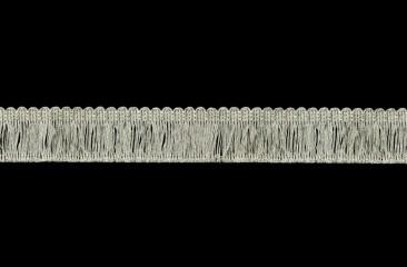 Twisted thread fringe width 3.5 cm silver