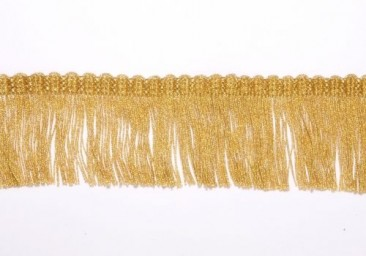 Fringe (brush) width 3.5 cm golden