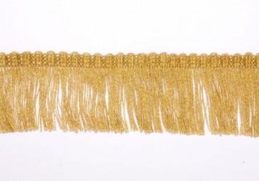 Fringe (brush) width 5.5 cm golden
