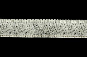 Twisted thread fringe width 5.5 cm silver