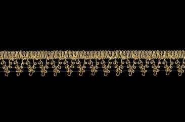 Тесьма «Виноград» люрекс ширина 3 см в золоте