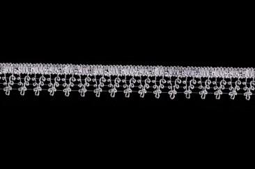 Тесьма «Виноград» люрекс ширина 3 см в серебре