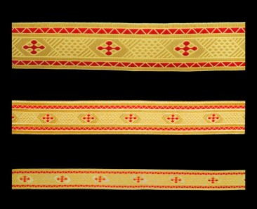 Galloon (Bethlehem Cross) red with gold