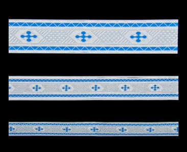 Galloon (Bethlehem Cross) skyblue with silver