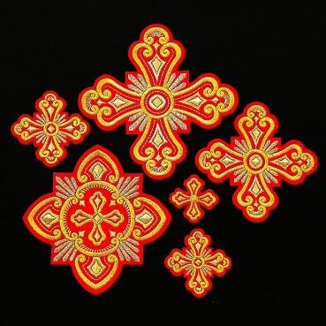 ☦️CROSSES EMBROIDERED FOR PRIEST VESTMENT (PRINCESS) •  buy | for sale >>> ORTHODOX