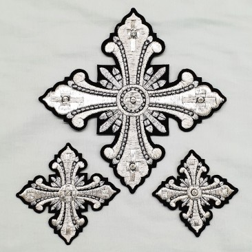 Кресты для диаконских облачений черные «Рождество»