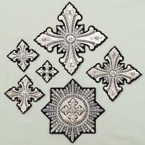 Crosses for Vestments black (Christmas)