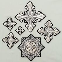 Кресты для облачений черные «Рождество»