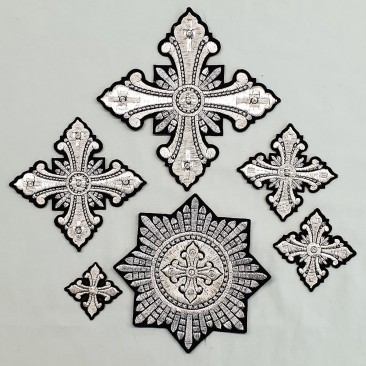Crosses for Vestments of Bishop (Christmas)