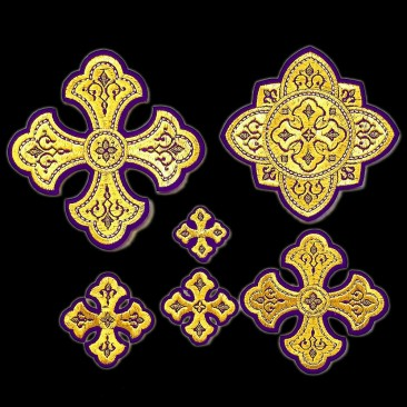 Crosses for Vestments Violet (Lavra)