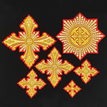 Set of Priest Crosses for Vestment (Christmas)