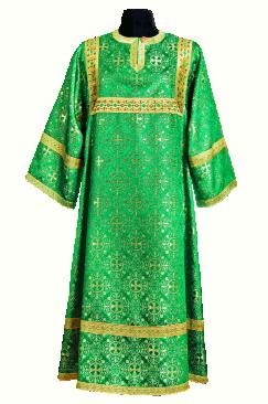 Altar Server Sticharion green (Brocade Greek)