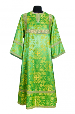 Стихарь пономарский зеленый (шелк)