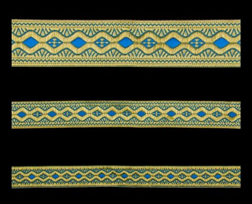 ☦️GALLOON (EASTER) SKYBLUE WITH GOLD •  buy | for sale >>> ORTHODOX