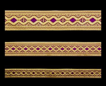 Галун «Пасха» фиолетовый с золотом