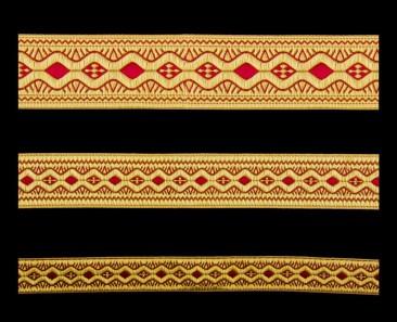 Галун «Пасха» красный с золотом