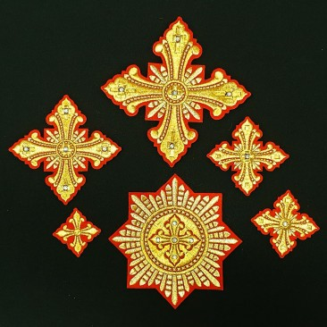 Embroidered Crosses for Bishop Vestments (Christmas)