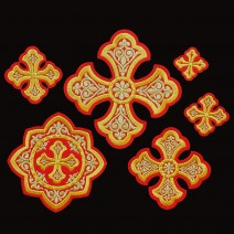 Embroidered Crosses for Priest Vestment (Ostrog)