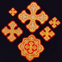 Набор вышитых крестов для облачения архиерея «Острог»