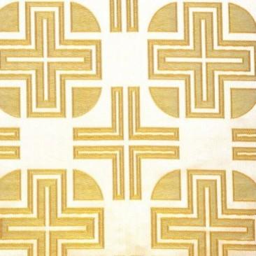 Парча желтая «Крест Лазаря»
