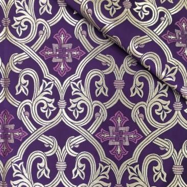 Парча фиолетовая с серебром «Смирна»